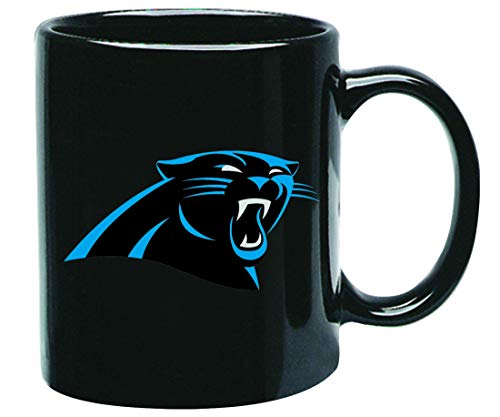Carolina Panthers NFL Offizielle Tasse, Becher, Kaffeetasse Black Glossy Groß 425 ml