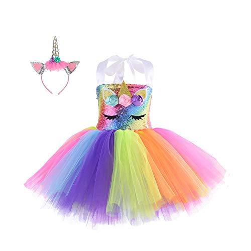 Disfraces De Halloween, Vestidos De Princesa Con Lentejuelas Unicornio, Vestidos Para NiAs, Vestidos De CumpleaOs