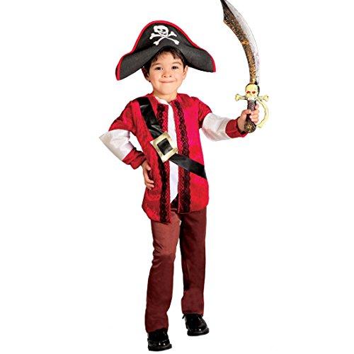 Traje corsario Infantil Disfraz de Pirata Niño L 140/152 cm Años 10-12 Vestimenta Marinero Niños Fiesta temática el Mar Atuendo bucanero Vestido Carnaval Chicos mareante