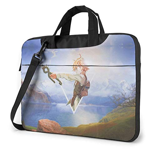 Laptop Sleeve Bag, The Seven Deadly Sins Tablet Briefcase Ultra Portable Protective Shoulder Shoproof Laptop Canvas Cover Book Pro/Notebook