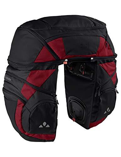 Vaude Bolsas para Rueda Trasera de Bicicleta Unisex Karakorum Pro para Adultos, Color Negro/carmín Normal