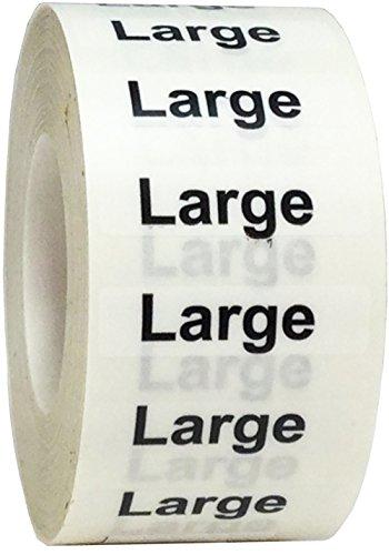 Trasparenti Taglie dei Capi d'Abbigliamento Large Etichette a Striscia, 32 x 127 mm 1,25 x 5 Pollice Adesivi per l'Abbigliamento 125 Pacchetto