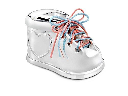 Spardose Schuh mit Schnürsenkel rosa&blau vers.a. 9,2x5x5,5c
