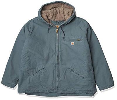 Carhartt Women's Sherpa Lined Sandstone Sierra Jacket (Regular and Plus Sizes), Sea Glass, X-Small