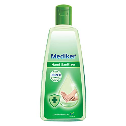 Mediker Hand Sanitizer,70 % Alcohol Based Sanitizer,Instantly Kills 99.9% Germs Without Water,Use Anytime, Anywhere, 500 ml