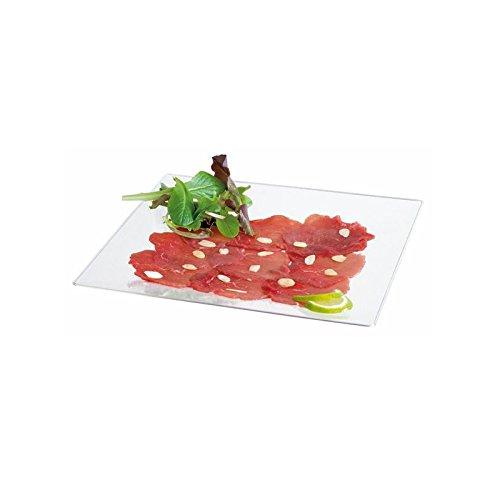 FIRST 210AQ2727 platte bord, vierkant, kunststof, transparant, 27,5 x 27,5 x 2 cm