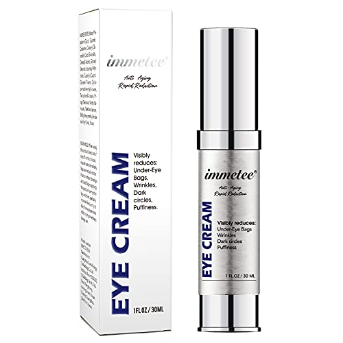 immetee Eye Cream, Eye Dark Circle Remover & Puffy Eyes Bags Under Eyes, Anti Aging Eye Cream Women, Eye Wrinkle Remover, Eye Puffiness Reducer in 2 Minutes(1Fl oz/30ml)