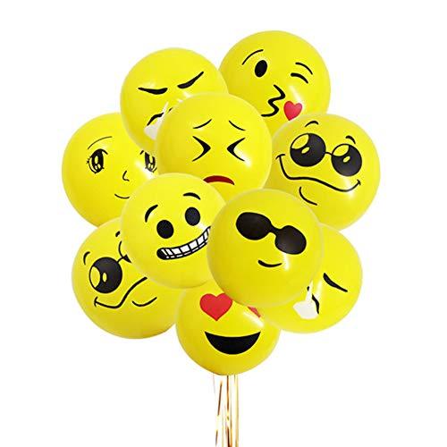 VVV 100 Emoji Globos,Color Partido Globos de Fiesta para la Fiesta de Cumpleaños de la Boda,Látex Globos
