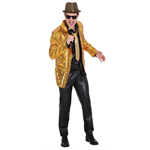 NET TOYS Show Jacket Gold Paillettenjacke Glitzer Jacke Pailletten Showtime Showmaster Glitzerjacke Showjacket Glitzerjacke XL 56/58