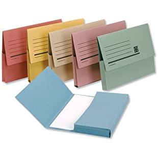 3 x Premier Document Wallet Half Flap 285gsm Capacity 32mm A4 Assorted (Pack of 50)\
