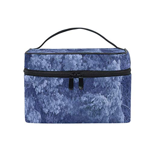 Trousse de maquillage Heavy Snow forest Cosmetic Bag Portable Large Toiletry Bag for Women/Girls Travel