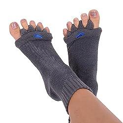 commercial Original Foot Alignment Socks, Large, Female 10+ / Male 9+, Dark Gray, Happy Feet (Large) happy foot socks