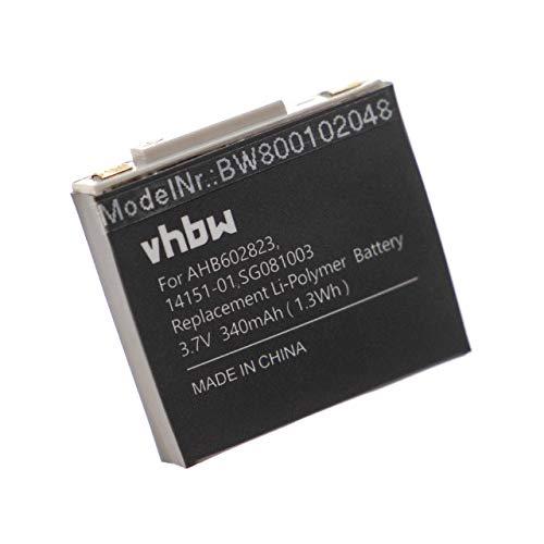 vhbw Akku passend für GN Netcom Jabra 9120, 9125, GN9120, GN9120 Flex Wireless Headset Kopfhörer (340mAh, 3.7V, Li-Polymer)