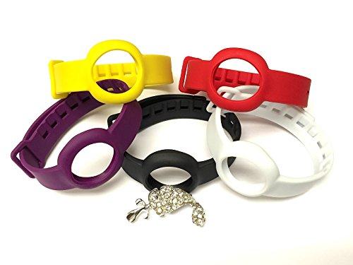 bester Test von jawbone up move Set mit 5 austauschbaren Trägern – 1 Onyx / 1 schwarz weiß 1 gelb 1 rot und 1 violett…