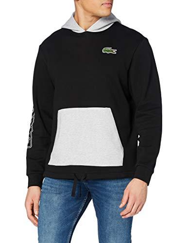 Lacoste Sport Herren Sh1574 Pullover, Noir/Argent Chine-Argent, 4
