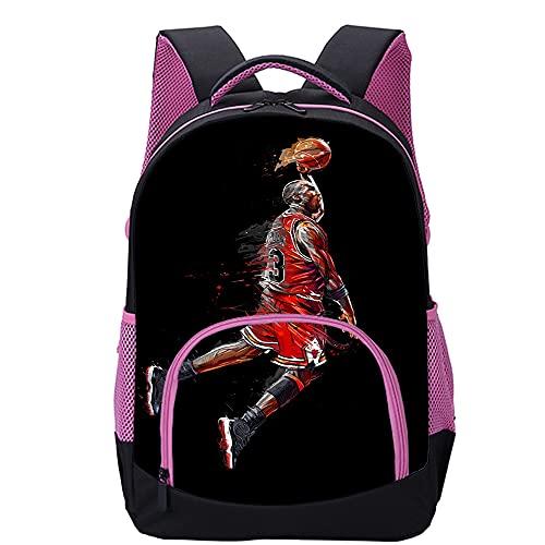 KKASD Mochila Michael Jordan impresa en 3D La mochila de moda es...