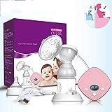 GWXLD AutomáTico Sacaleches, Unilateral EléCtrico Ajustable Inteligente Extractor De Leche Anti-Reflujo Silicona Bomba De Lactancia Materna, BPA-Free Pink