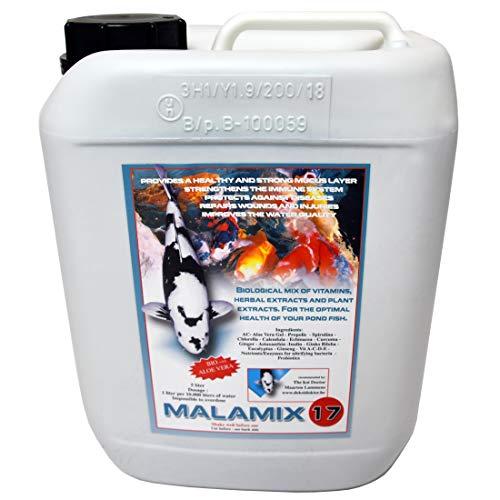 Malamix 17 - von Dr. Lammens - Nitrifizierende Bakterien Enzyme Vitaminkur Kräuter Koi Teich Gesundheit rein biologisch (5.000 ml)