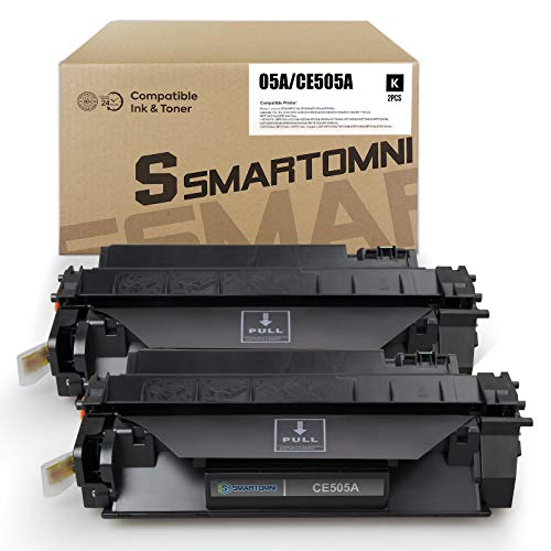 S SMARTOMNI 2pk Compatible Toner Cartridge Replacement for HP 05A 80A CE505A CF280A Using with HP Laserjet p2035 p2055dn p2035n p2055 p2055dn p2055d Pro 400 m401n m401dne m425dn m401dw Printer Toner