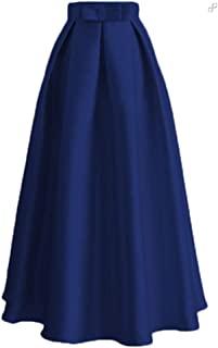 Nobrand Plus Size SkirtsTurkish Long Pleated Maxi High Waist Skirt
