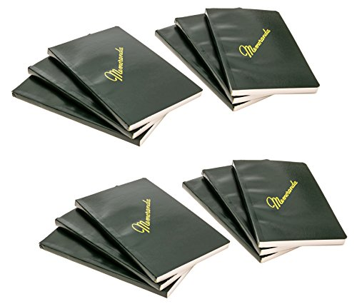 DIY Indispensables US Military Memo Book (12 Pack) Side Bound 3-3/8 x 5-5/8 Inch with Durable Sewn Binding College Ruled 72 Sheet 144 Page Notebook NSN 7530-00-222-0078 Made in USA