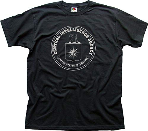 shangdi CIA Central Intelligence Agency USA Cotton t-Shirt Black 3XL