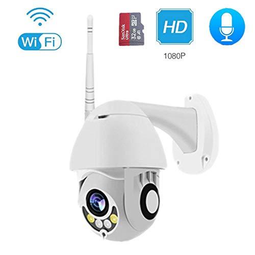 DAETNG Drahtlos betriebene Außenkamera, IP66 wetterfest, HD 1080P-Überwachungskamera mit 2-Wege-Gespräch, Wi-Fi-IP-Kamera mit Bewegungserkennung und Nachtsicht