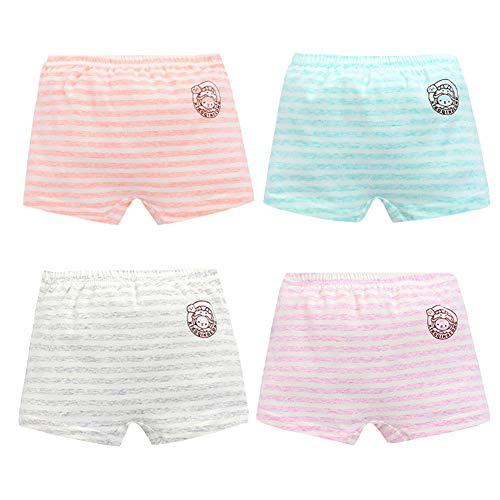 Mädchen Unterhosen Slips Baumwollene, Unterwäsche Für Kleine Mädschen, Höschen 2-16 Jahre (4 Packung) (Streifen,175cm)