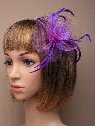 Superbe Violet Taille Bibi monté sur une bande de Ultra Fine, convient pour les mariages, les courses, Ascot