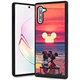 DISNEY COLLECTION Mickey and Minnie Mouse Sunset Design for Samsung Galaxy Note 10 Case Soft TPU and PC Cover Retro Stylish Classic Cover
