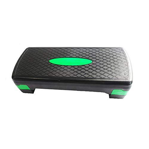 VaxiujaTRAINING Versátil Mini Ajustable 3 Nivel AERÓBICO Paso A Paso Entrenamiento Fitness Yoga Gym Steps de Aerobic (Color : Verde, tamaño : 66cm)