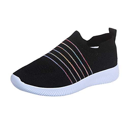 Zapatillas de Deportes con Cojines Hombre Mujer Zapatos Deportivos Aire Libre para Correr Calzado Sneakers Running 1228