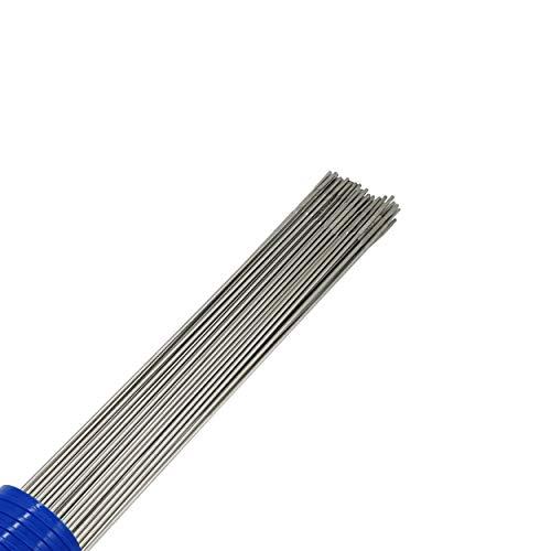WIG Schweißstäbe Set für Stahlwerk/Stahlwerker ER307Si Edelstahl hochlegiert Ø 2,4 x 1000mm 1kg inkl WIG Köcher, Schweißzusatz VA V2A Schweissdraht