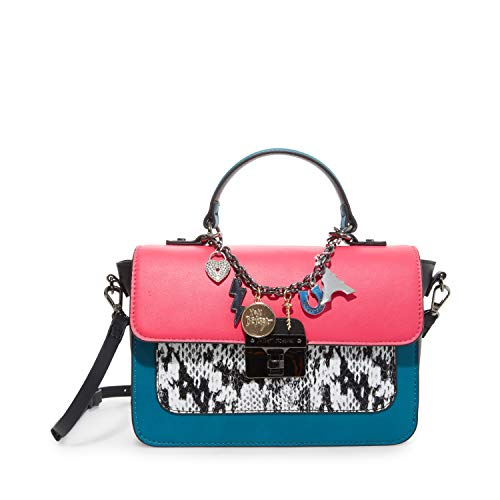 Betsey Johnson Animal Instinct Flap Crossbody, Black/White