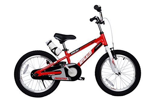 Royalbaby Space No. 1 Kids' Bike, Perfect Gift for Kids, 12 Inch Wheels, Red