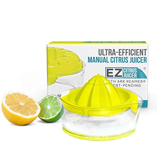 EZ Citrus Juicer - 8 oz. Manual Lemon Juicer with ARK Reamer for Maximum Extraction - Top Rated Premium Design
