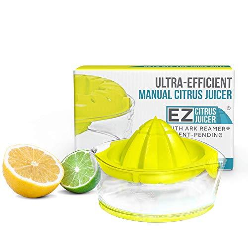 Manual Lemon Juicer by EZ Citrus Juicer  23% More Juice 37% Less Hand Strain NonSlip Base Top Rated Premium Design with Patented ARK Reamer