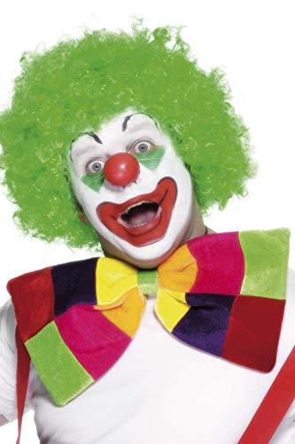 Smiffys Unisex Jumbo Clown Vlinderdas Jumbo Clown, One Size, Gekleurd, 99014