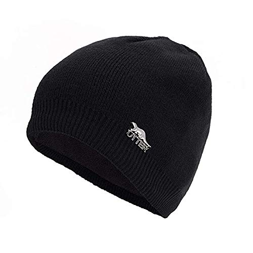 OTTER Waterproof, Windproof, Breathable - Beanie Hat Suitable for All Activities in All Weather Conditions Hat in 3 Colours (Black)