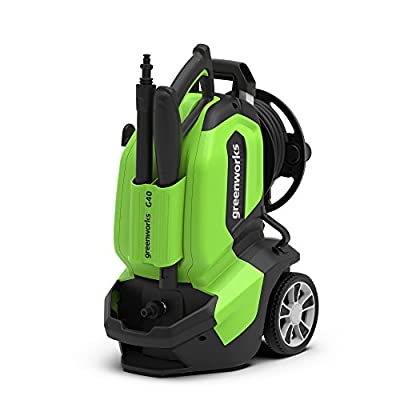 Greenworks 5104107UK G40 135 Bar Pressure Washer, 1900 W, 240 V, Green by Greenworks