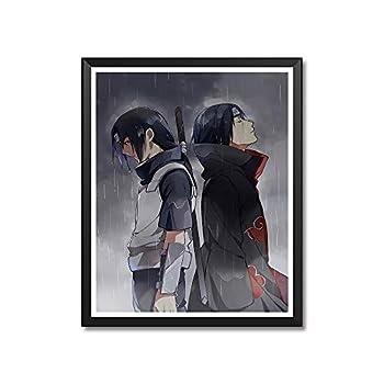 Manga Anime Uchiha Itachi Uchiha Sasuke Canvas Art Print Poster for Home Decoration Unframed 8 x10 Inches