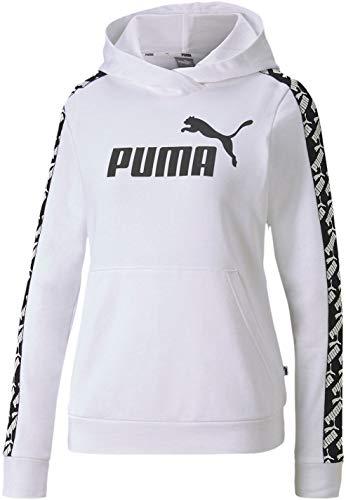 PUMA Women's Hooded Sweatshirt, White, X-Large
