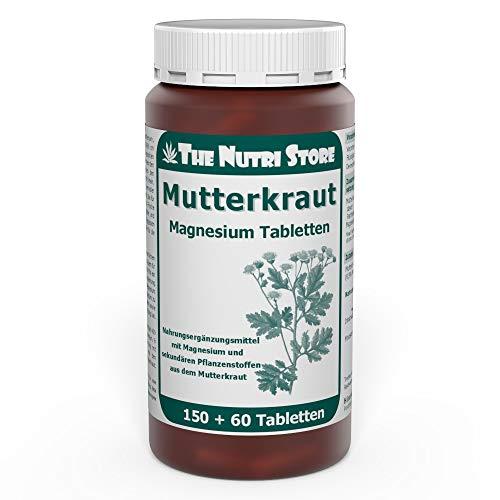 The Nutri Store Mutterkraut Magnesium Tabletten, 150+60 Tabletten