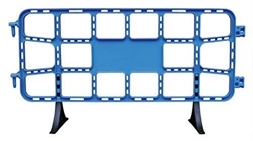 Valla plástico obra de 2 metros azul. Valla contención peatonal azul