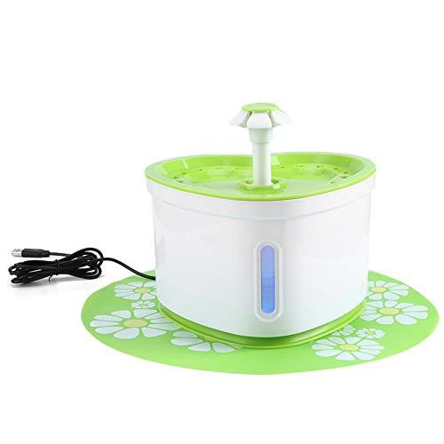 Zerodis Fuente de Agua para Mascotas con Luces LED, dispensador eléctrico automático...