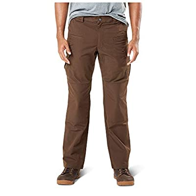 5.11 Men's Stryke Tactical Military Cargo Work Pant with Flex-Tac, Style 74369, Burnt, 34W x 30L