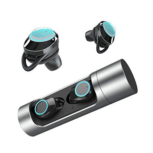 ALG Drahtlose Ohrhörer, wasserdichte Bluetooth 5.0-Kopfhörer mit Mikrofon, hochwertige, langlebige Metallhülle, intelligente Atemlichter, binaurales Gespräch, Lange Akkulaufzeit