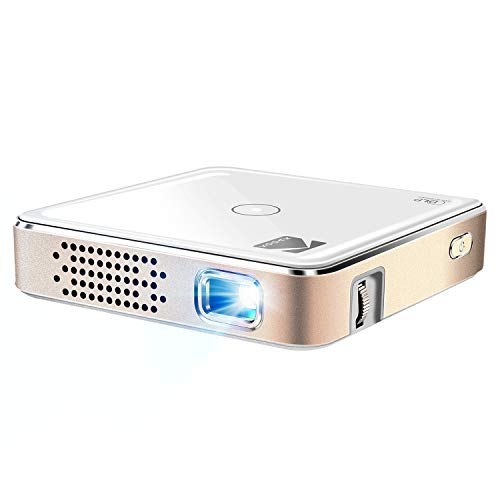Kodak Ultra Mini Portable Projector - 1080p HD LED DLP Rechargeable Pico Projector - 100' Display, Built-in Speaker - HDMI, USB and Micro SD - Compatible with iPhone iPad, Android Phones & Devices