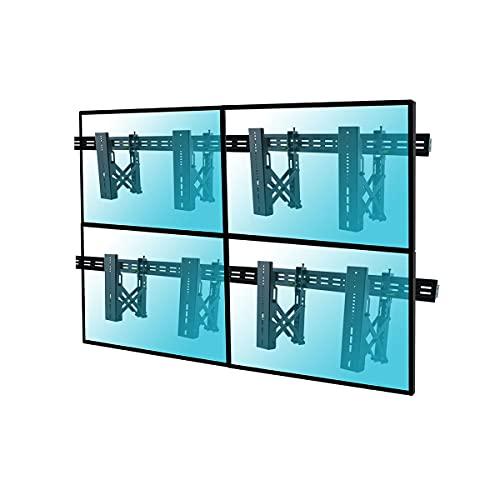 KIMEX 017-2022K Kit de 4 soportes para videowall con sistema push pull para pantalla TV LCD LED 37'-70'