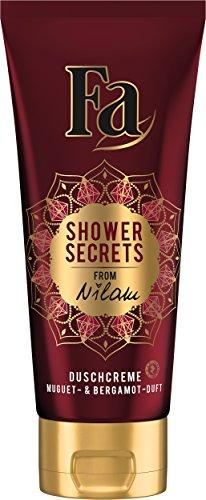Fa Shower Secrets von Nilam Duschgel, Nuguet und Bergamot, 6er Pack (6 x 200 ml)